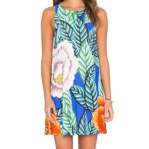 NWOT MARA HOFFMAN BLUE FLORAL SWING DRESS